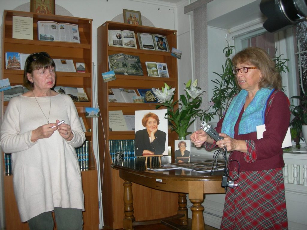 Алевтина Новикова и Рузанна Севикян на презентации книги «Правозащитник Нина Терехова» 11 10 2018 Фото библиотеки
